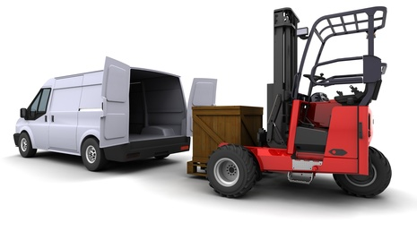 Forklift truck and van for Courier Expert trad Jobs