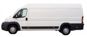 Shows and XLWB or extra large van that can be used for sameday courier work