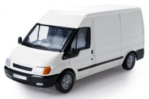 Shows a large van that can be used for sameday courier work